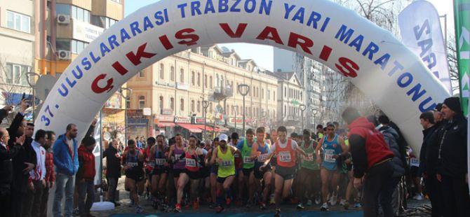 37'inci Trabzon Uluslararası Yarı Maratonu Koşuldu