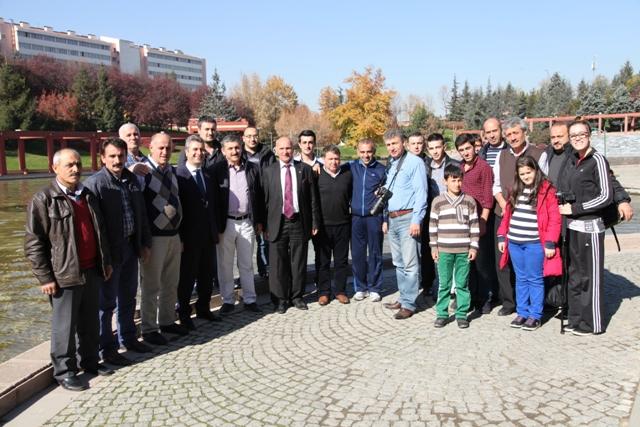 Mehmet Baş, Ankara'ya Gelen Akçaabatlı Taraftarlara Ev Sahipliği Yaptı.