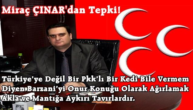 MHP Akçaabat İlçe Başkanı Miraç Çınar Çok Öfkeli.