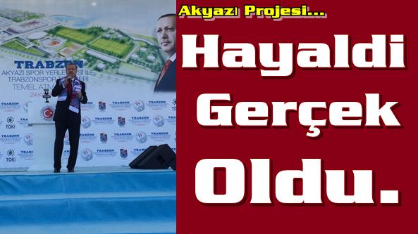 Başbakan Recep Tayyip Erdoğan Akyazı Stadının Temelini Attı.