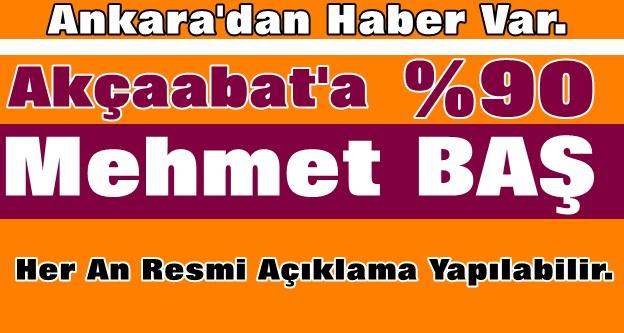 """Ankara Kulisleri, """"Mehmet Baş Ak Parti Akçaabat Belediye Başkan Adayıdır"""" Diyor."""