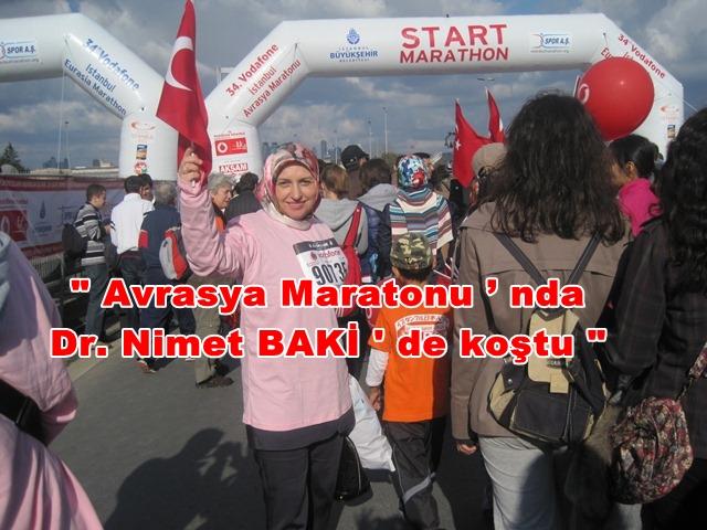 Avrasya Maratonu'nda Dr. Nimet BAKİ de koştu