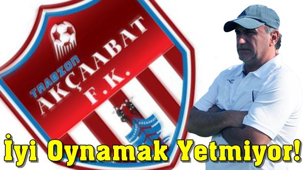 Akçaabat FK Sebat Teknik Patronu Mehmet Akif Başaran Üzgün;