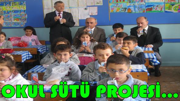 Öğrencilere Süt Dağıtımı Başladı.