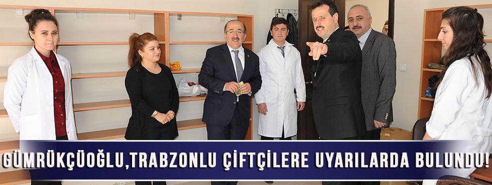 Gümrükçüoğlu,Trabzonlu Çiftçilere Uyarılarda Bulundu!