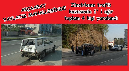 Akçaabat ' ta trafik kazası