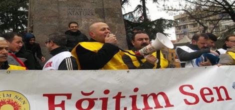 Türk Eğitim Sen, Eğitim İş Ve Eğitim Sen,Trabzon'da İş Bırakıp Eylem Yaptı,