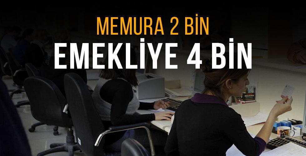 Memura 2 Bin 481, Emekliye 4 Bin 127 Lira