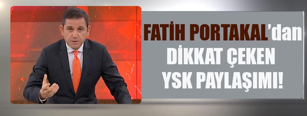 Fatih Portakal'dan Dikkat Çeken YSK Paylaşımı!