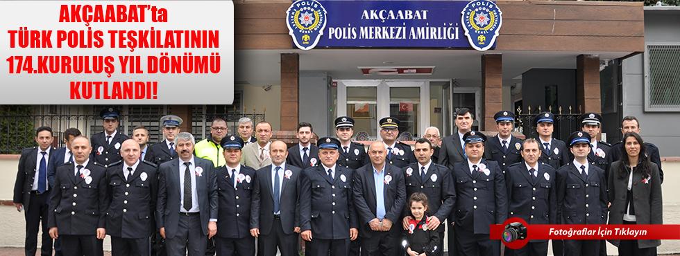 Akçaabat'ta Türk Polis Teşkilatının 174. Kuruluş Yıl Dönümü Kutlandı