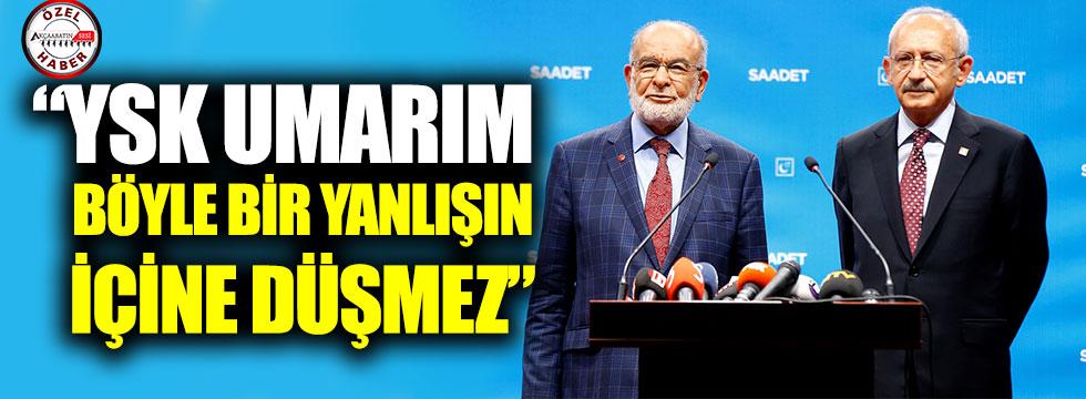 """Kılıçdaroğlu: """"YSK Umarım Böyle Bir Yanlışın İçine Düşmez"""""""
