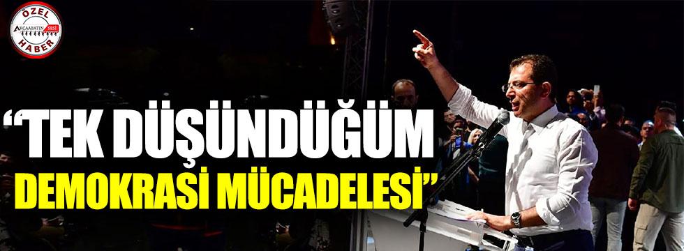 """İmamoğlu: """"İstanbul Bana Verdiği Vazifeyi Demokrasi Mücadelesiyle Taçlandırdı"""""""