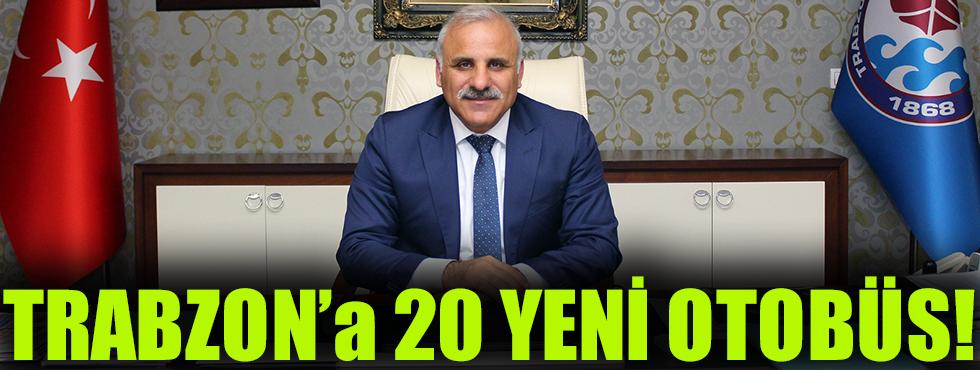 Trabzon Toplu Ulaşımına 20 Yeni Otobüs