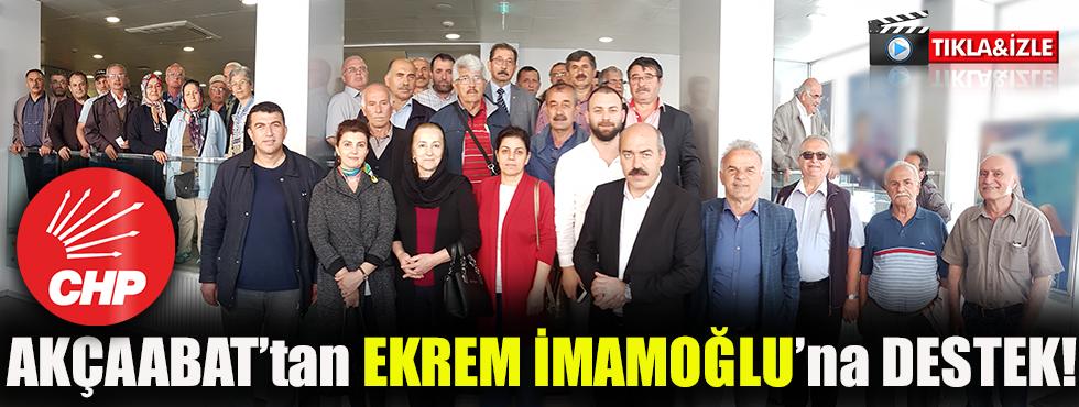CHP Akçaabat Teşkilatından İmamoğlu'na Destek