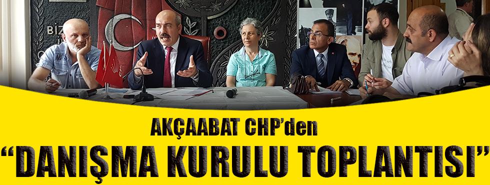 Akçaabat CHP'den Danışma Kurul Toplantısı!