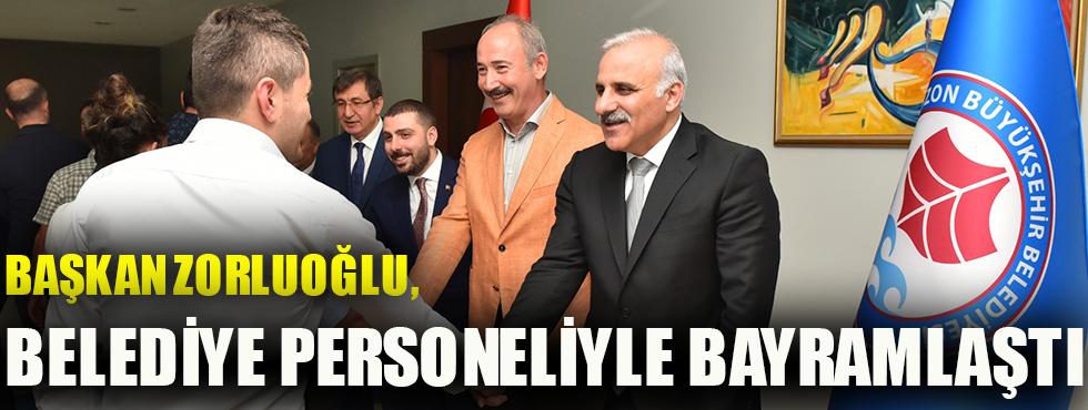 Başkan Zorluoğlu, Belediye Personeliyle Bayramlaştı