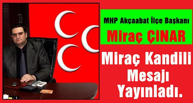 MHP'den Miraç Kandili Mesajı