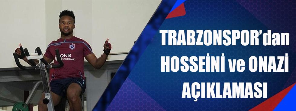 Trabzonspor'dan Hosseini Ve Onazi Açıklaması