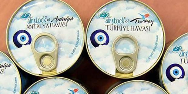 'Türkiye havası' konserve halinde satışa sunuldu