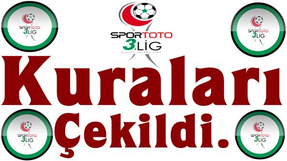 Spor Toto 3. Ligde 2014-2015 Sezonu Grup Kuraları Çekildi.