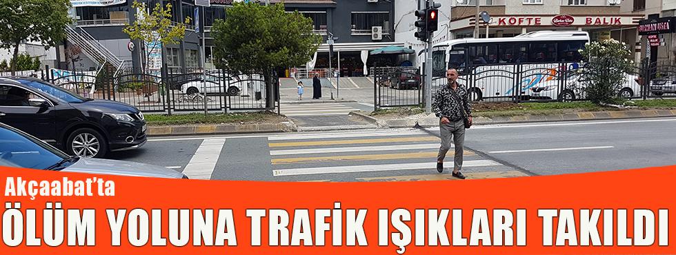Akçaabat'ta Ölüm Yoluna Trafik Işıkları Takıldı!
