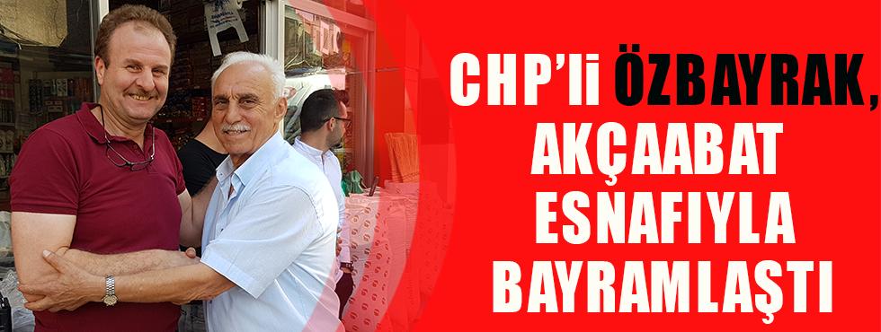 CHP Akçaabat Belediye Meclis Üyesi Mehmet Özbayrak, Esnafla Bayramlaştı