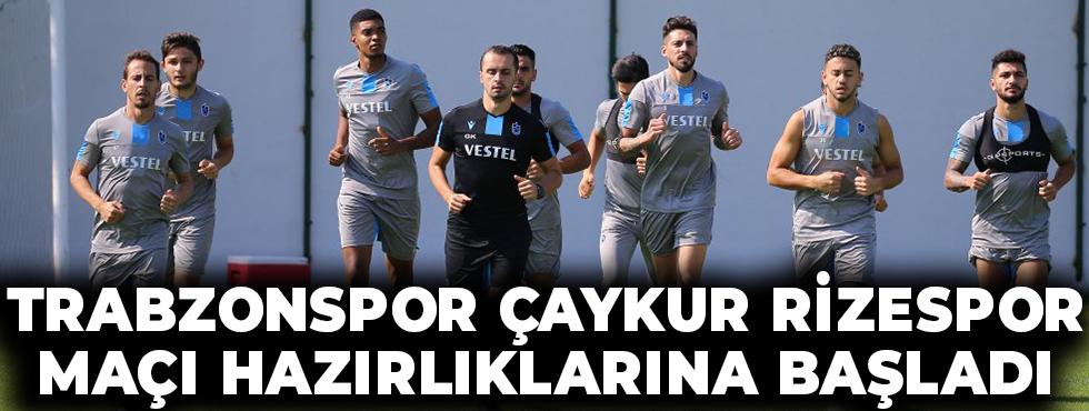 Trabzonspor Çaykur Rizespor Maçı Hazırlıklarına Başladı