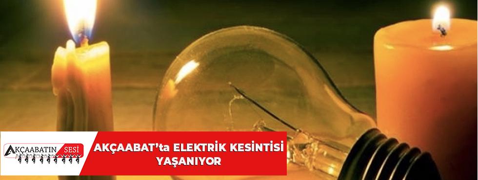 Akçaabat'ta Elektrik Kesintisi Yaşanıyor