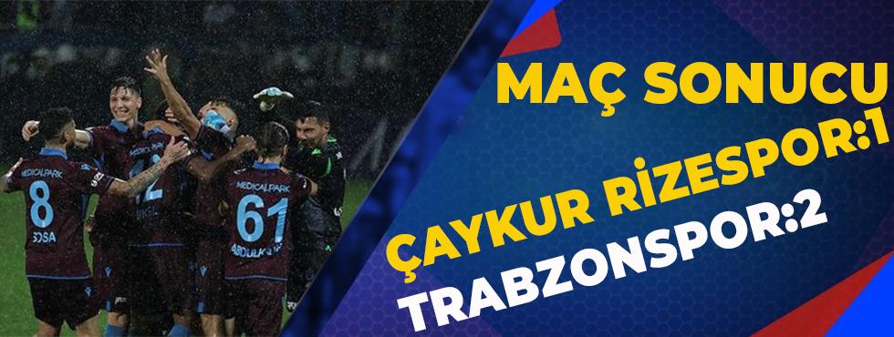 Çaykur Rizespor 1-2 Trabzonspor