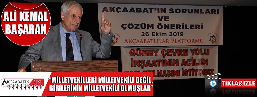 """Ali Kemal Başaran """"Akçaabat'ın Tütününü Mısır ve Rusya Alırdı,Şimdi İse...!"""""""
