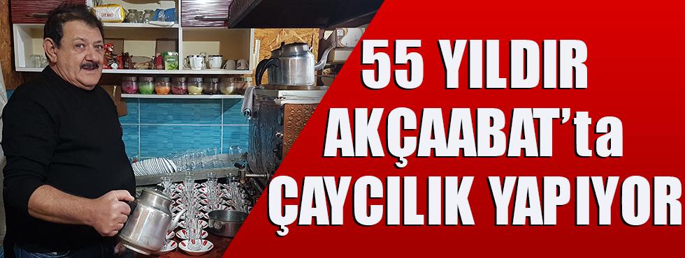 Akçaabat'ın 55 Yıllık Çaycısı!