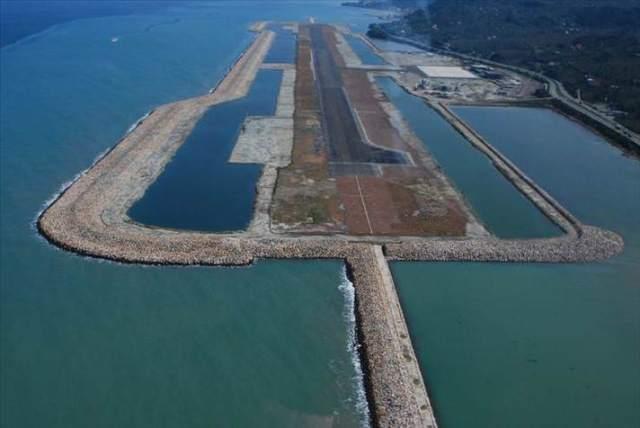 Ordu-Giresun Havalimanı Projesi Havadan Görüntülendi