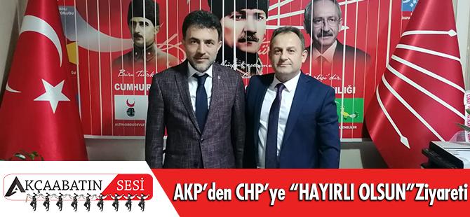 """AKP'den CHP'ye """"Hayırlı Olsun"""" Ziyareti"""
