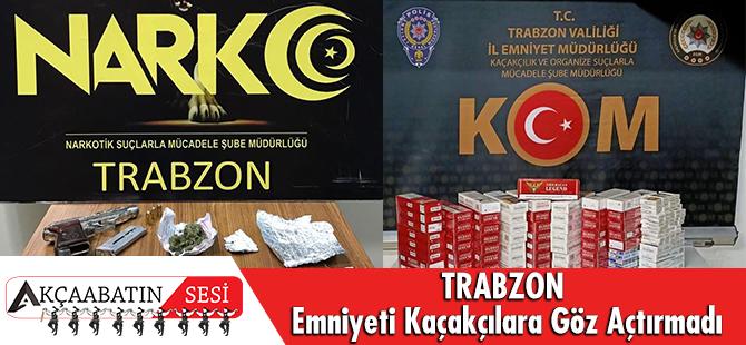 Trabzon Emniyeti Kaçakçılara Göz Açtırmıyor!