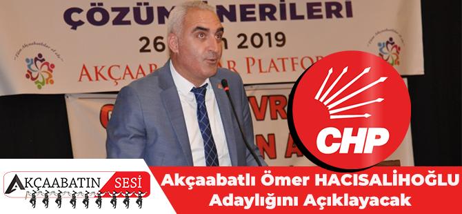 Akçaabatlı Ömer Hacısalihoğlu Adaylığını Açıklayacak.
