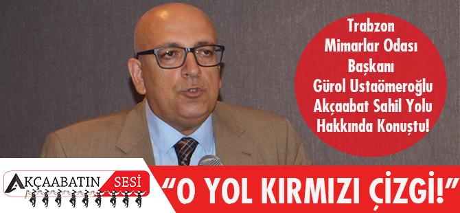 Gürol Ustaömeroğlu Akçaabat Sahil Yolu Projesi'nin Kırmızı Çizgileri Olduğunu Belirtti.