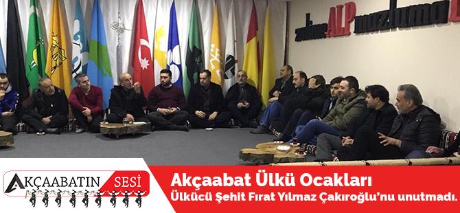 Akçaabat Ülkü Ocakları Ülkücü Şehit Fırat Yılmaz Çakıroğlu'nu Unutmadı.