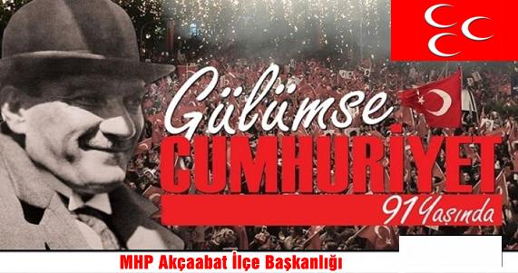MHP  Cumhuriyet'in 91.Yaşını Kutladı