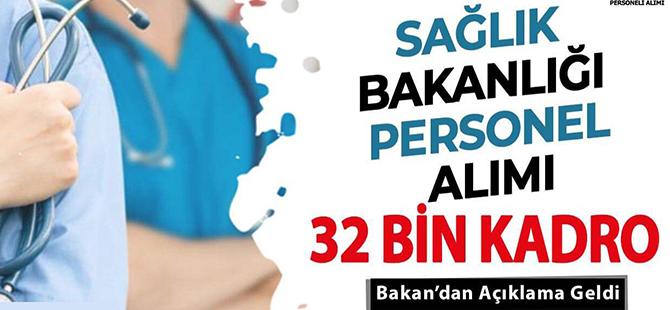 Sağlık Bakanlığı 32 Bin Personel Alımı Branş Dağılımı Belli Oldu Mu? Sağlık Personeli Alınıyor!