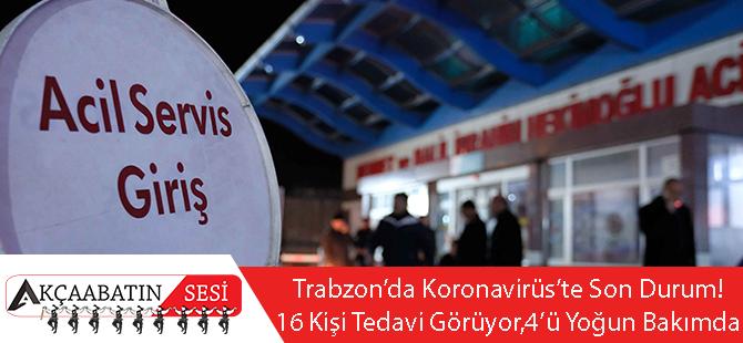 Trabzon'da Koronavirüsten 16 Kişi Tedavi Görüyor, 4'ü Yoğun Bakımda!