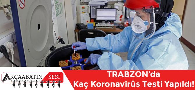İşte Trabzon'da Koronavirüs Salgını Kapsamında Yapılan Test Sayısı.