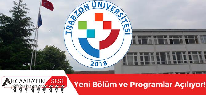 Trabzon Üniversitesi'nde Yeni Bölüm Ve Programlar Açılıyor