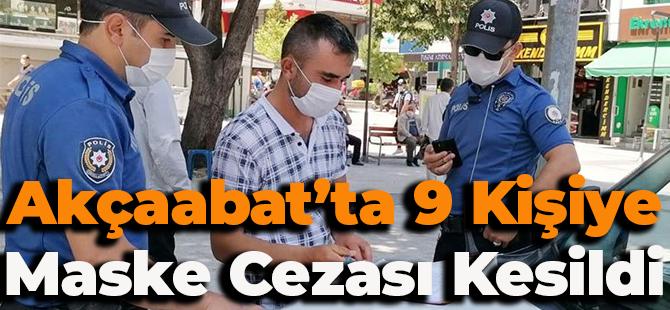 Akçaabat'ta 9 Kişiye Maske Cezası Kesildi!