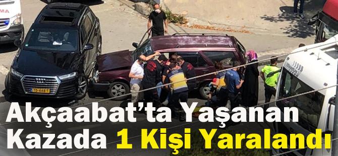 Akçaabat'ta Yaşanan Kazada Bir Kişi Yaralandı.