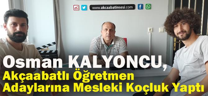 Osman Kalyoncu, Akçaabatlı Öğretmen Adaylarına Mesleki Koçluk Yaptı.