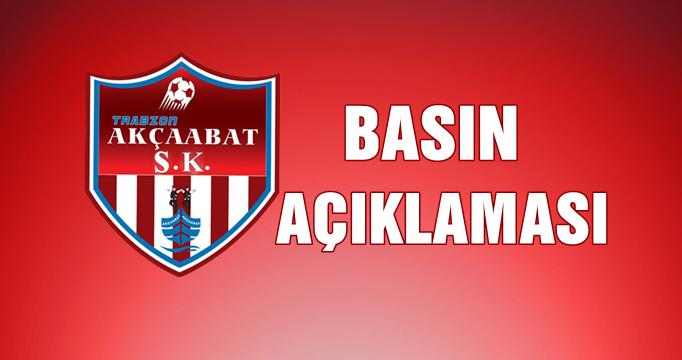 Sebatspor Kulübünden Basın Açıklaması