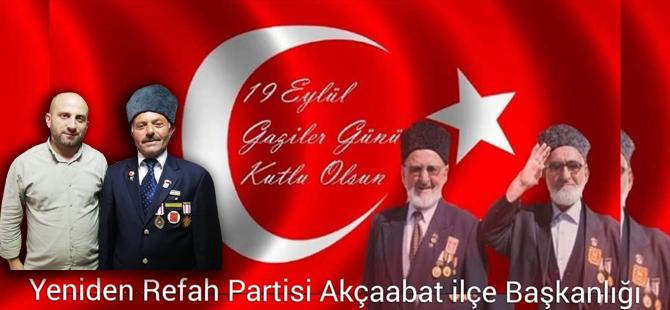 Sandıkcı'dan Gaziler Günü Mesajı