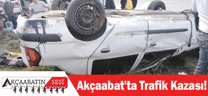 Akçaabat'ta Trafik Kazası…