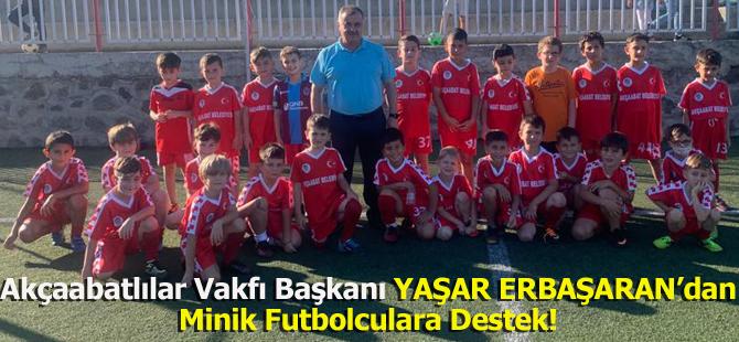 Akçaabatlılar Vakfı Başkanı Yaşar Erbaşaran'dan Minik Futbolculara Destek!