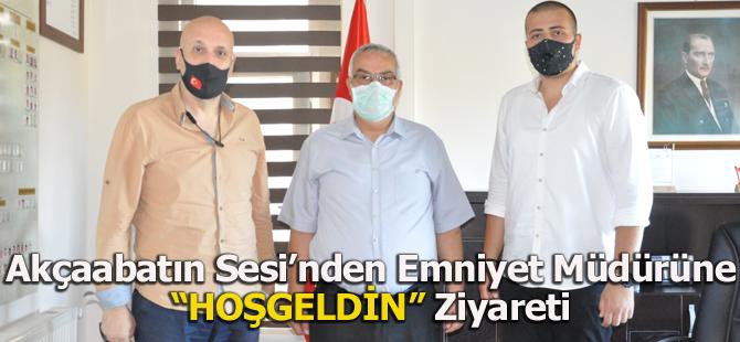 Akçaabatın Sesi'nden Emniyet Müdürüne 'Hoşgeldin' Ziyareti